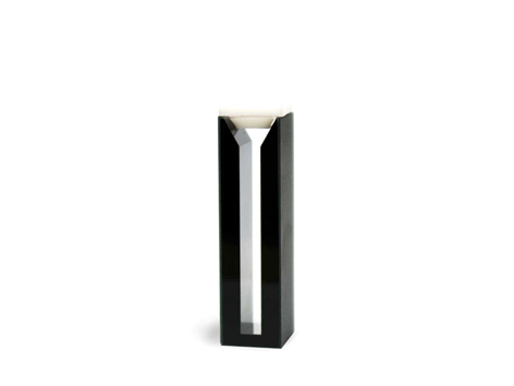 Cubeta em Vidro Óptico/Quartzo 2 Faces Polidas Escuras Passo 10mm Volume 1,4ml